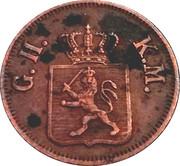 1 heller Ludwig II. – avers