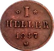1 heller Ludwig II. -  avers