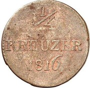 ¼ Kreuzer - Ludwig X – revers