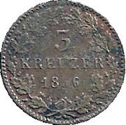 3 Kreuzer - Ludwig III – revers