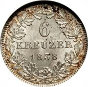 6 Kreuzer - Ludwig II – revers