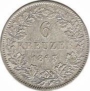 6 Kreuzer-Ludwig II – revers
