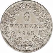 6 Kreuzer-Ludwig III – revers