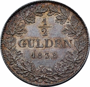 ½ Gulden - Ludwig II – revers