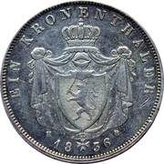 1 thaler Ludwig II – revers