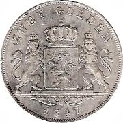 2 Gulden - Ludwig II – revers