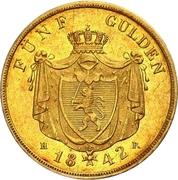 5 Gulden - Ludwig II – revers