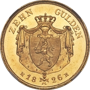 10 Gulden - Ludwig X – revers