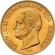 10 Gulden - Ludwig II – avers
