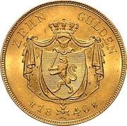 10 Gulden - Ludwig II – revers