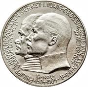 2 Mark - Ernst Ludwig (400ème anniversaire de la naissance de Philippe le Magnanime) – avers