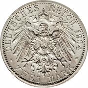2 Mark - Ernst Ludwig (400ème anniversaire de la naissance de Philippe le Magnanime) – revers