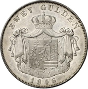 2 Gulden - Philipp August – revers