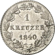 1 Kreuzer - Philipp August – revers