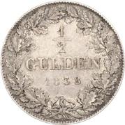 ½ Gulden - Ludwig Wilhelm – revers