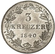 3 kreuzer Philipp August Friedrich – revers