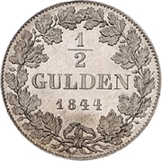 ½ Gulden - Philipp August – revers