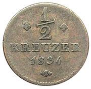 ½ kreuzer Wilhelm II et Friedrich Wilhelm – revers