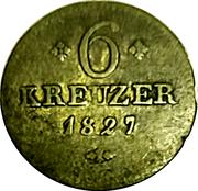 6 kreuzer Wilhelm II – revers