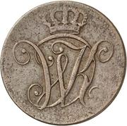 2 Heller - Wilhelm I – avers