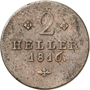 2 Heller - Wilhelm I – revers
