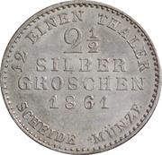 2½ Silber Groschen - Friedrich Wilhelm I – revers