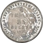 2 Thaler / 3½ Gulden - Wilhelm II and Friedrich Wilhelm – revers