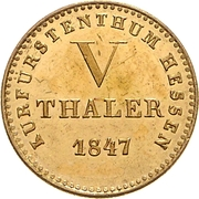 5 Thaler - Wilhelm II and Friedrich Wilhelm – revers