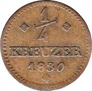 ¼ Kreuzer - Wilhelm II – revers