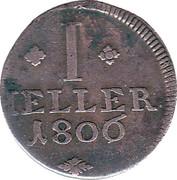 1 Heller - Wilhelm I – revers