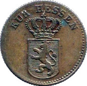 ½ Kreuzer - Wilhelm II – avers