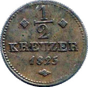 ½ Kreuzer - Wilhelm II – revers