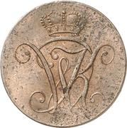 2 Heller - Wilhelm IX. – avers