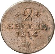 2 Heller - Wilhelm IX. – revers