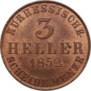 3 Heller - Friedrich Wilhelm – revers