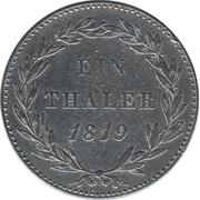 1 Thaler - Wilhelm I – revers