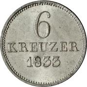 6 kreuzer Wilhelm II et Friedrich Wilhelm – revers
