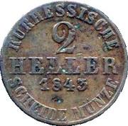 2 Heller - Wilhelm II – revers