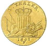 5 thaler Wilhelm IX – revers