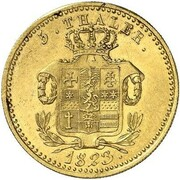 5 thaler Wilhelm II – revers