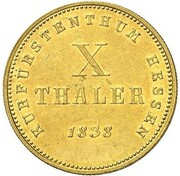 10 thaler Wilhelm II & Friedrich Wilhelm – revers