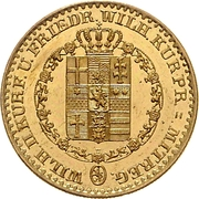 5 thaler Wilhelm II & Friedrich Wilhelm – avers