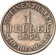 1 Heller - Wilhelm II & Friedrich Wilhelm – revers