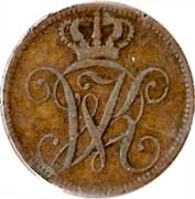 4 Heller - Wilhelm II – avers
