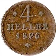 4 Heller - Wilhelm II – revers