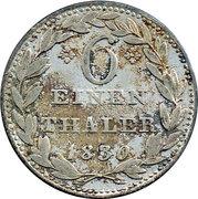 ⅙ thaler Wilhelm II – revers