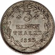 ⅓ Thaler - Wilhelm II – revers