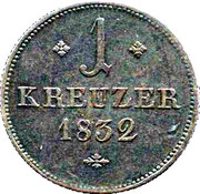 1 Kreuzer - Wilhelm II – revers