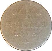 4 Heller - Wilhelm I – revers
