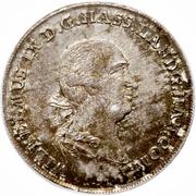 ½ Thaler - Wilhelm IX – avers